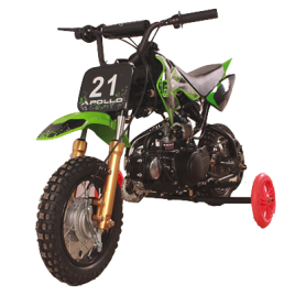 Apollo DB21 (70cc) Dirt Bike w/training wheels