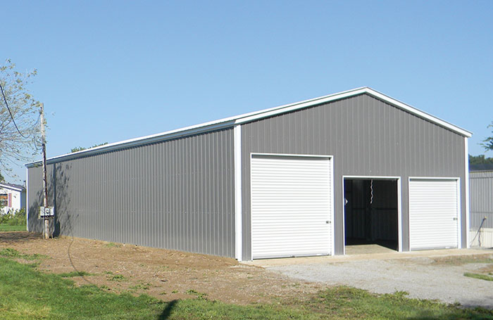 Commercial Steel Truss Garage Shop