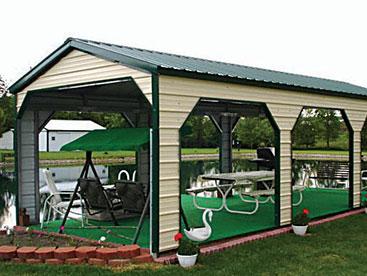 Vertical Roof Steel Carport