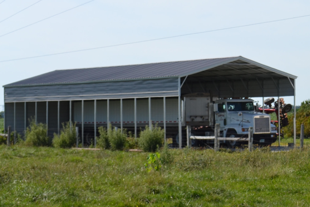 Grain Truck Steel Shelter