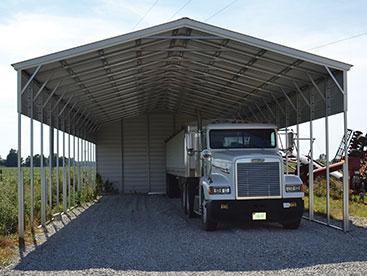 Large Steel Carport Shelter