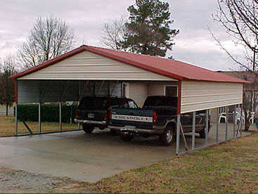 Vertical Roof Steel Carport