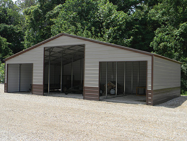 All Steel 3 bay storage building