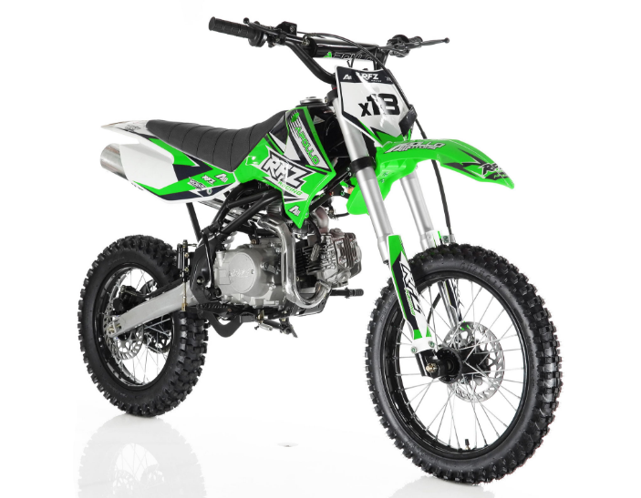 apollo db x18 125cc dirt bike get the max out of life. Black Bedroom Furniture Sets. Home Design Ideas